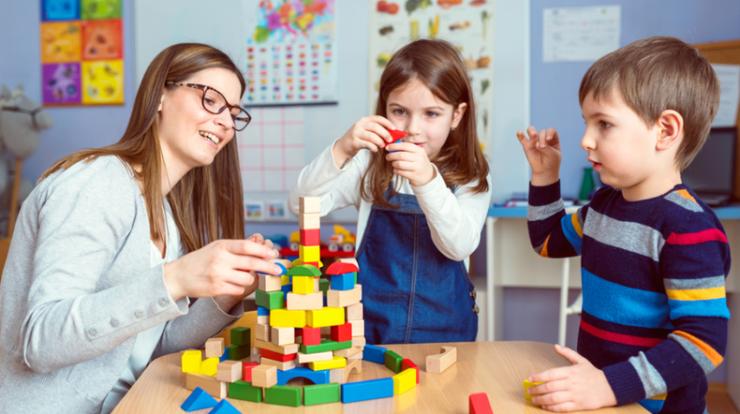 creative playschool classroom